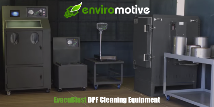 Enviromotive EvacuBlast DPF Cleaning Equipment, Clamps, Bungs & Accesories,Enviromotive EvacuBlast DPF Cleaning Systems Out-Clean Competition
