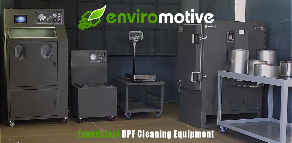 Enviromotive EvacuBlast DPF Cleaning Systems Out-Clean Competition