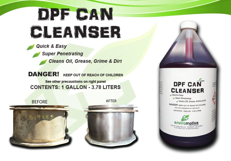 Enviromotive DPF Can Cleanser for Clearing Rust, Oil, Grease, Grime, and Dirt