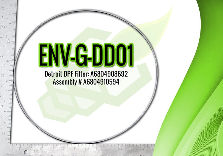 Detroit DPF Gasket, Series 60 Metal, OE Part A6804908692 – ENV-G-DD01